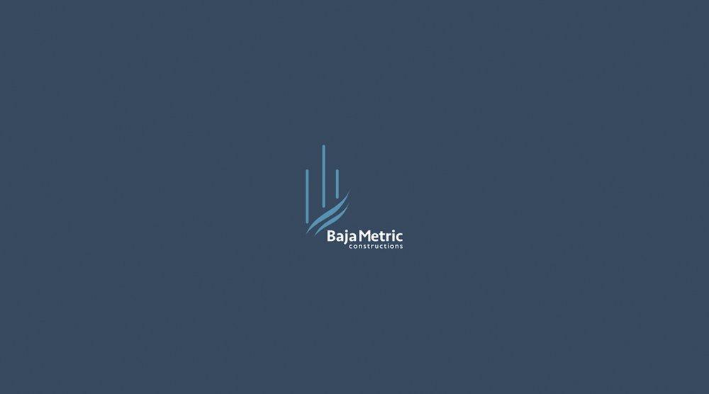 diseño de logotipo baja metric construction