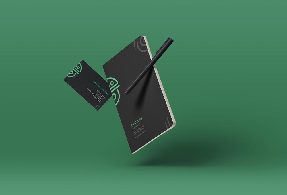 diseño de tarjeta y libreta