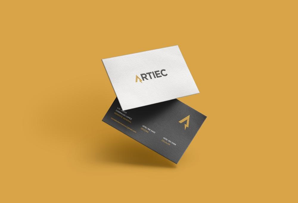 diseño de tarjetas de presentación artiec