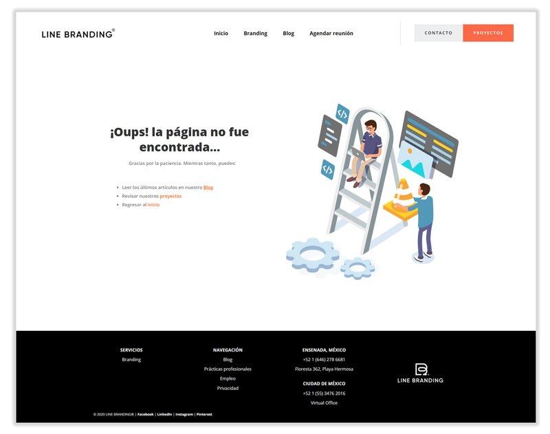 Imagen de la página 404 de Line Branding