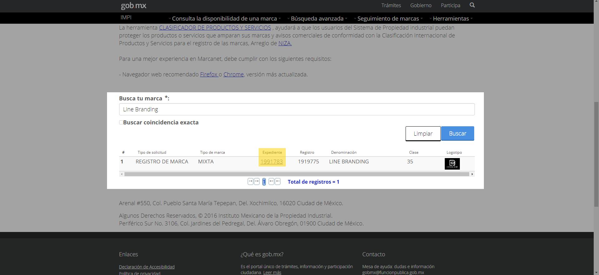 marcanet, página web de registra de marca en IMPI