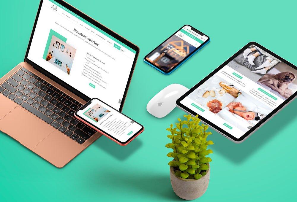 diseño web hotel lumi