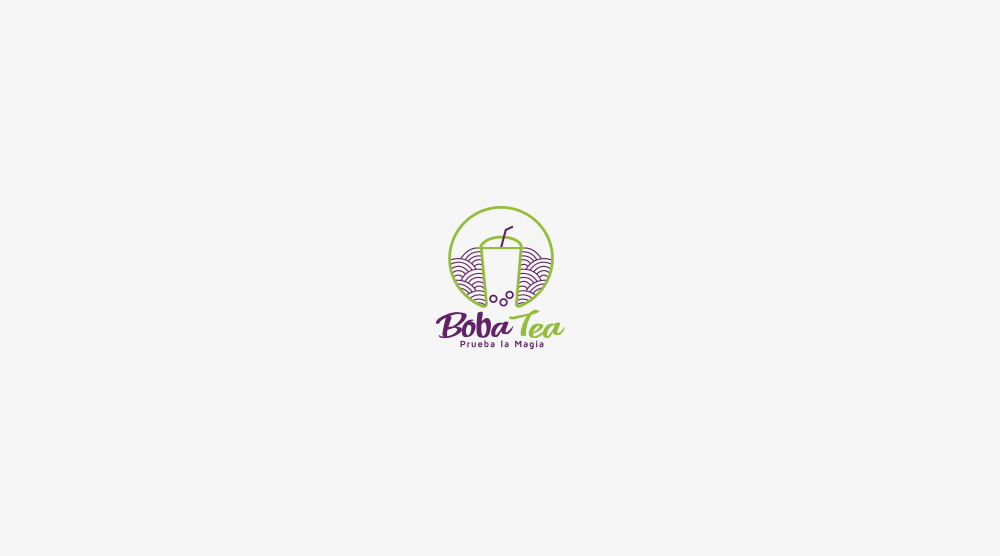 logotipo boba tea