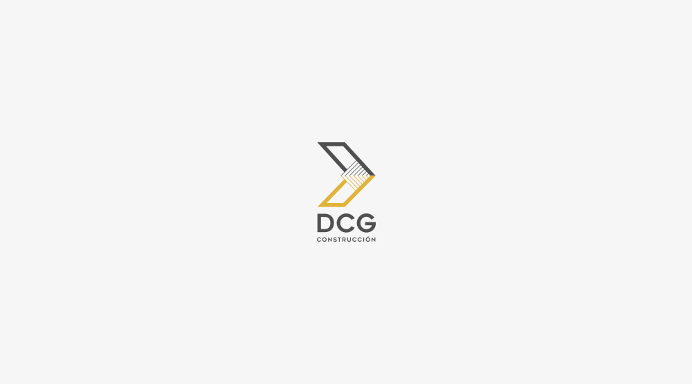 logotipo dcg construccion