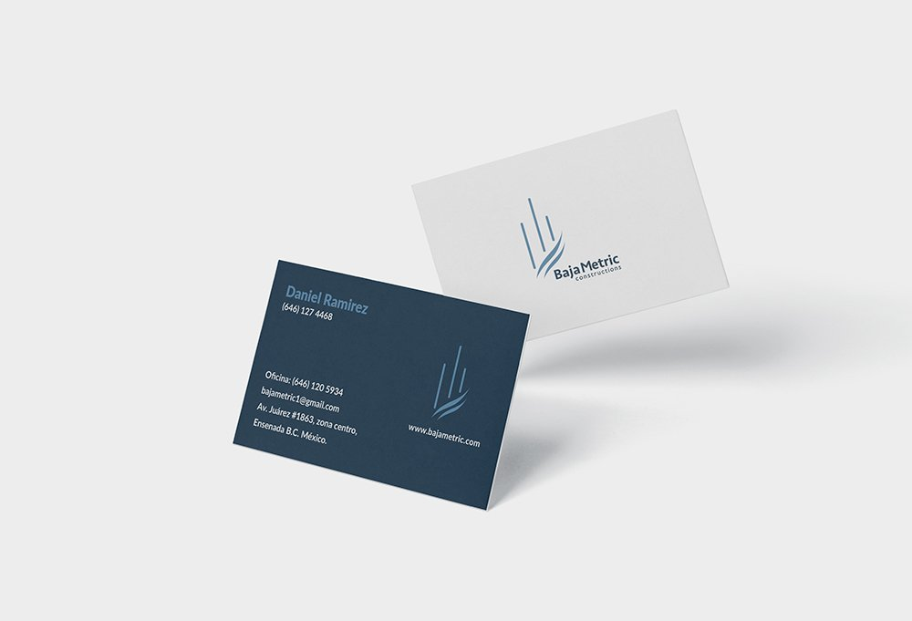 tarjetas personales de baja metric