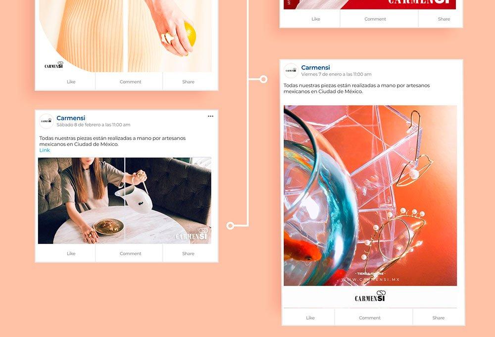 redes sociales para joyería