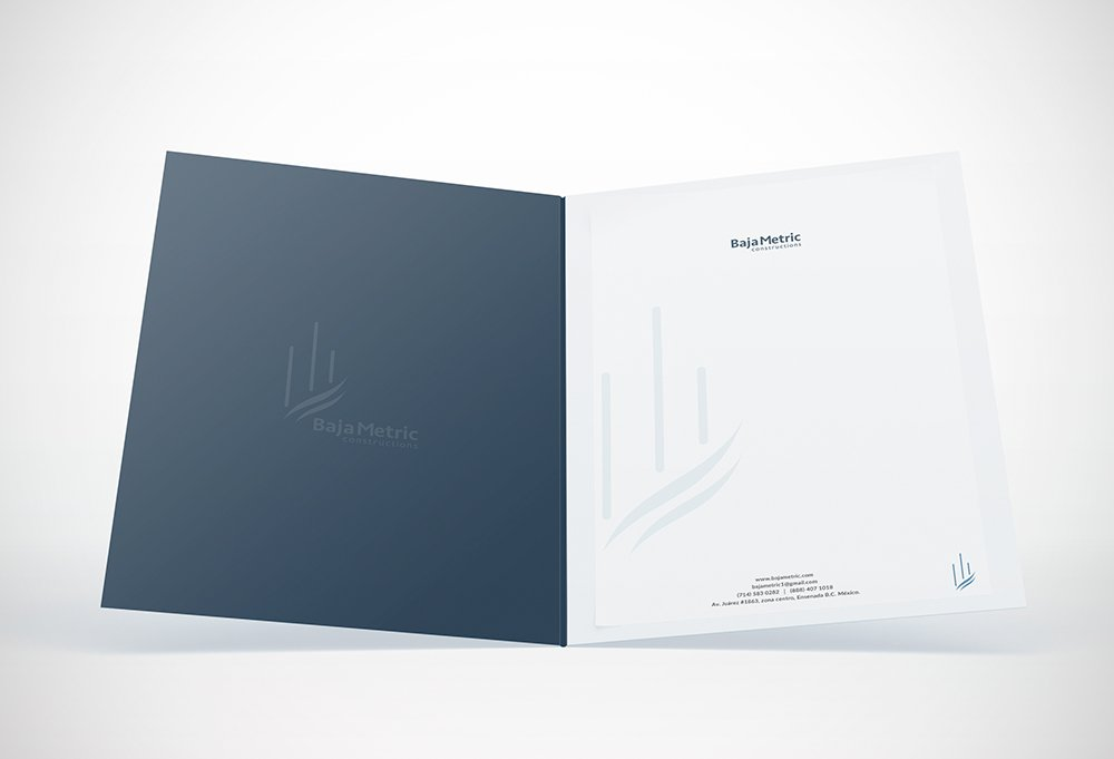 folder corporativo de baja metric