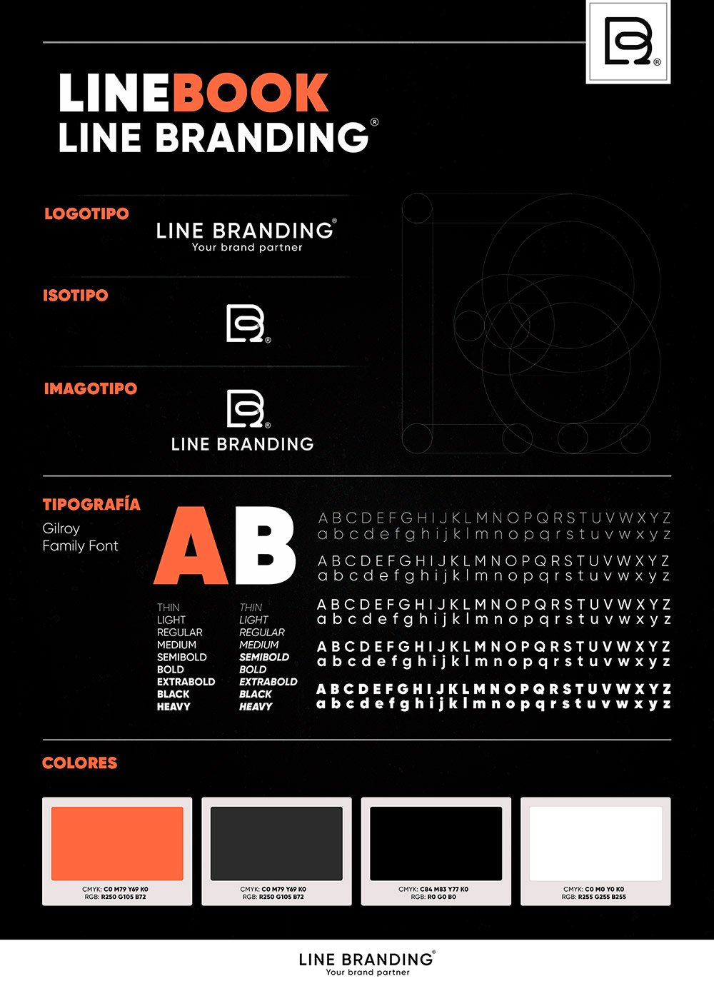 manual de marca line branding