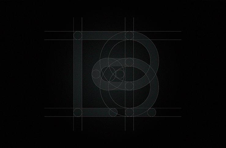 retícula de logotipo