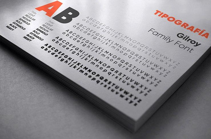 tipografía de un manual de marca