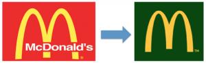 Rebranding del logo McDonald