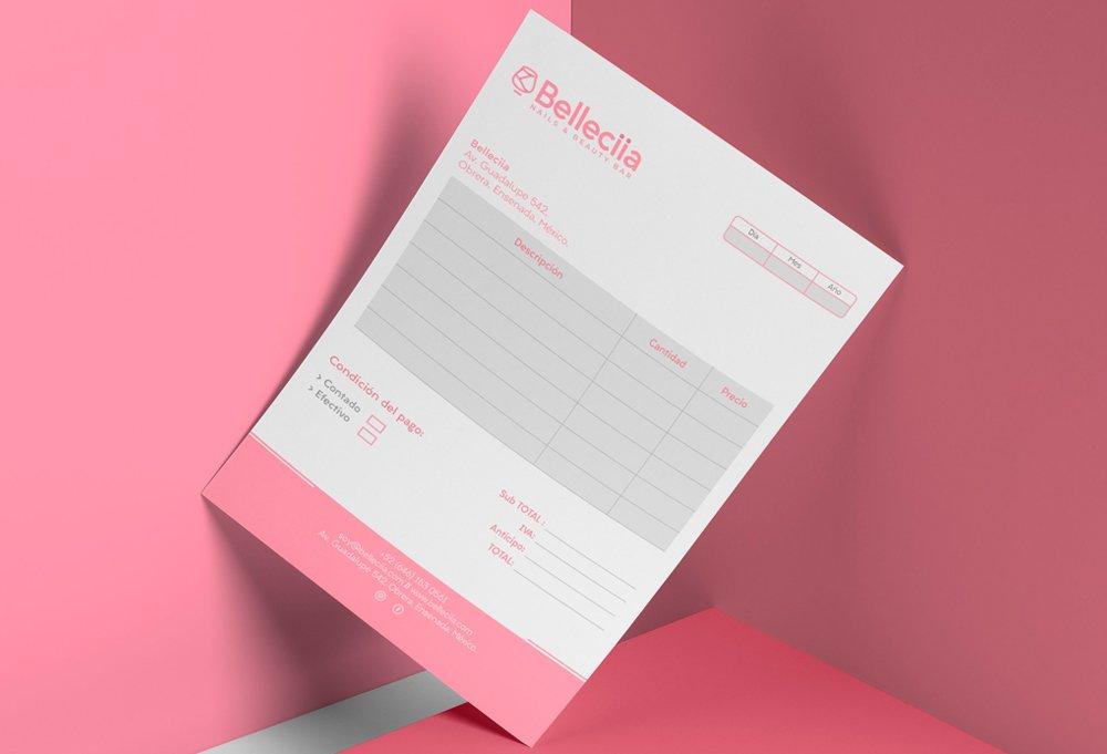 diseño notas rosa