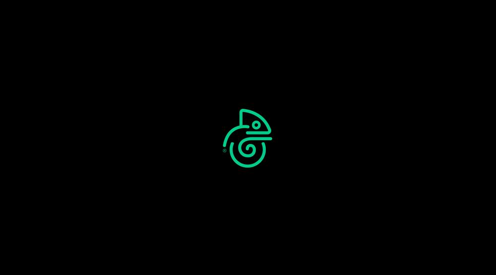 logotipo camaleón