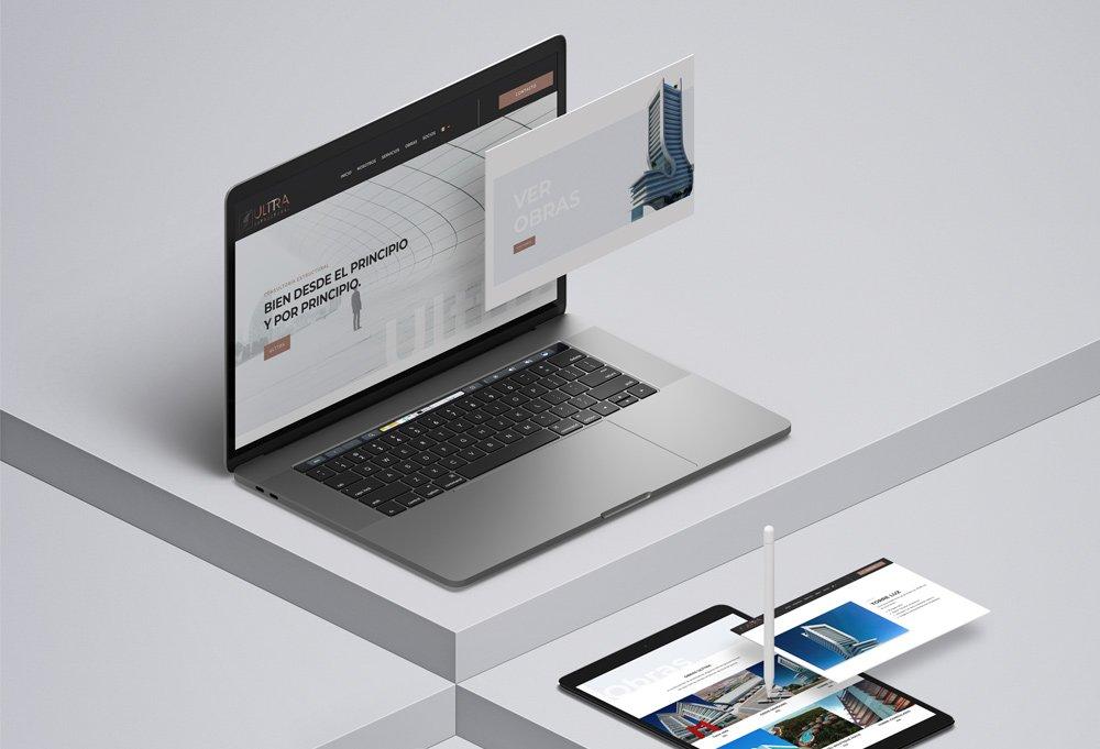 diseño web constructora ulttra